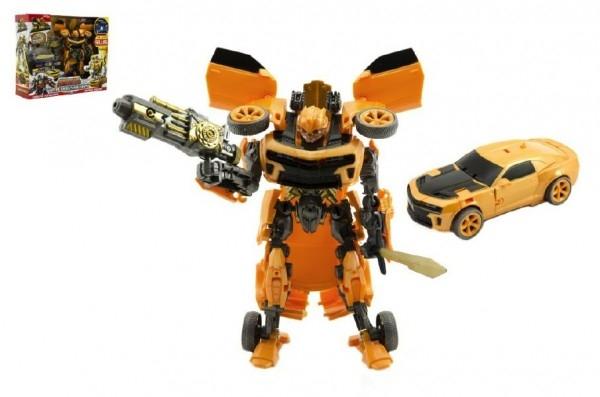 Teddies Auto /Transformer žlté plast v krabici 28x23x8cm