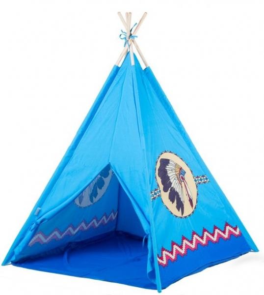 Eco toys Detský indiánsky stan - modrý indián