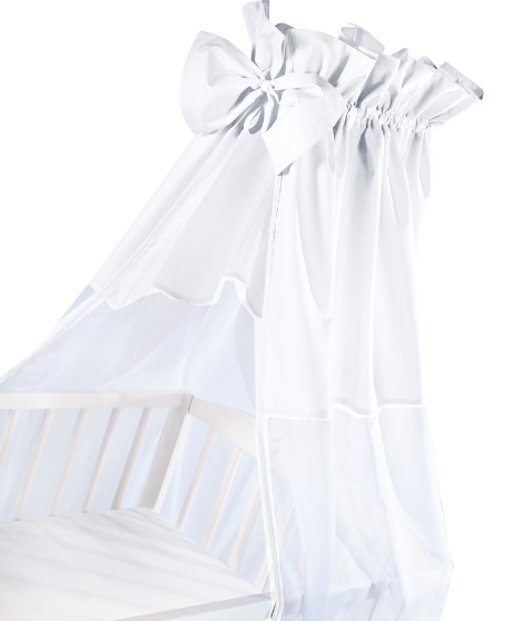 Albero Mio Luxusné nebesia 200 x 150 cm s mašličkou - biela