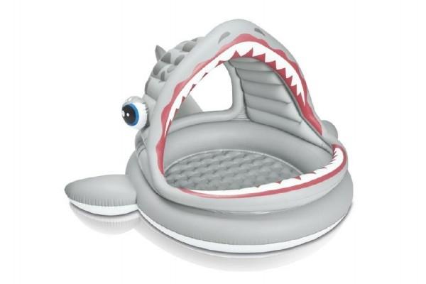 Bazén detský žralok so strieškou nafukovacie 201x198x109cm 2+