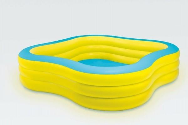 Teddies Bazén nafukovacia štvorcový 229x229x56cm od 6 rokov.