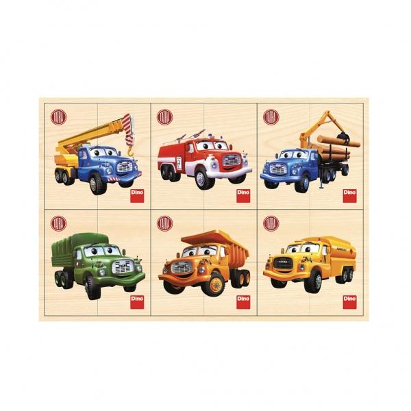 DINO Toys Puzzle dřevěné Tatra 6x4 dílků