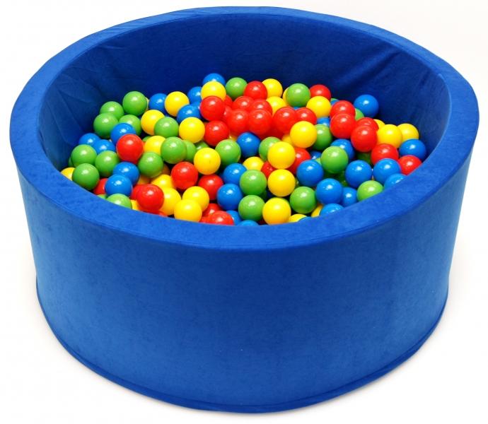 NELLYS Bazén pre deti 90x40cm kruhový tvar + 200 balónikov - modrý, Ce19