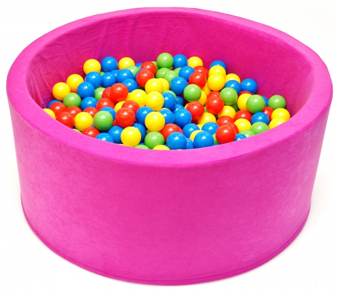 NELLYS Bazén pre deti 90x40cm kruhový tvar + 200 balónikov - růžový, Ce19