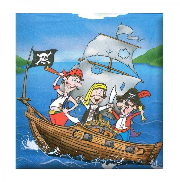 Obrúsok párty - pirát, 12 ks v sáčku
