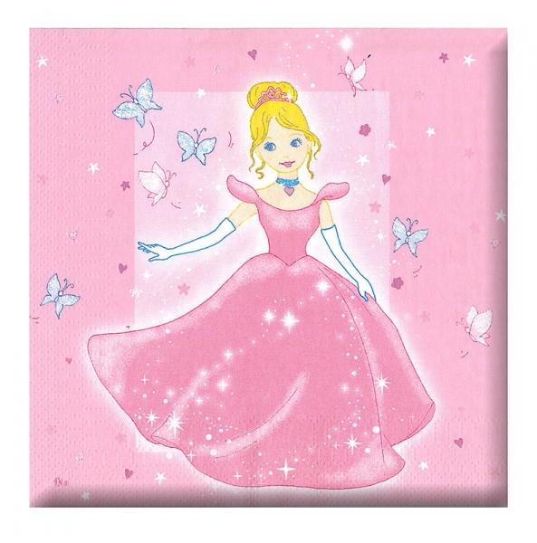 Obrúsok párty - princezná, 12 ks v sáčku