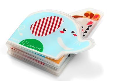 BabyOno Mäkká pískacia knižka do vody -  Elephant & Friends