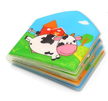 BabyOno Mäkká pískacia knižka do vody - Country Animals