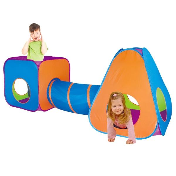 Detský stan s tunelom 3v1
