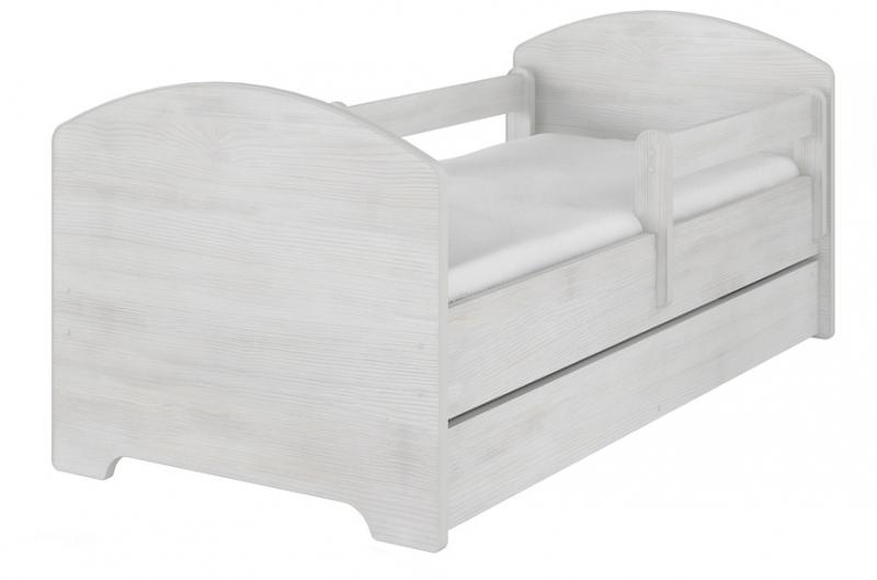 Detská postel HELI v farbe norské borovice s šuplíkom + matrac zadarmo 140x70 cm