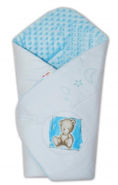 Zavinovačka, 75x75cm, bavlnená s Minky by Teddy - sv. modrá, sv. modrá