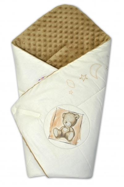 Zavinovačka, 75x75cm, bavlnená s Minky by Teddy - piesková, sv. hnedá