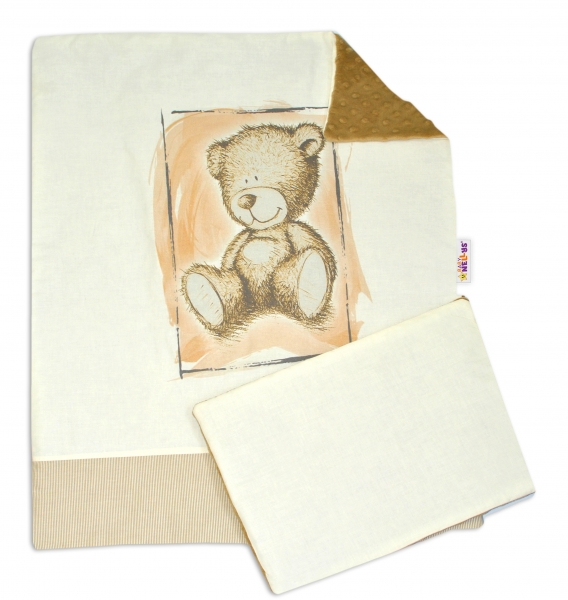 Súprava do kočíka s Minky komplet by Teddy - piesková, sv. hnedá