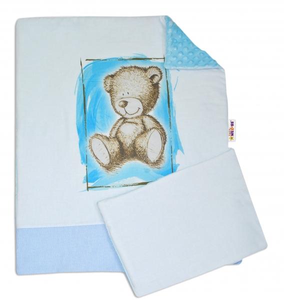 2-dielna sada do kočíka s Minky by Teddy - sv. modrá, sv. modrá