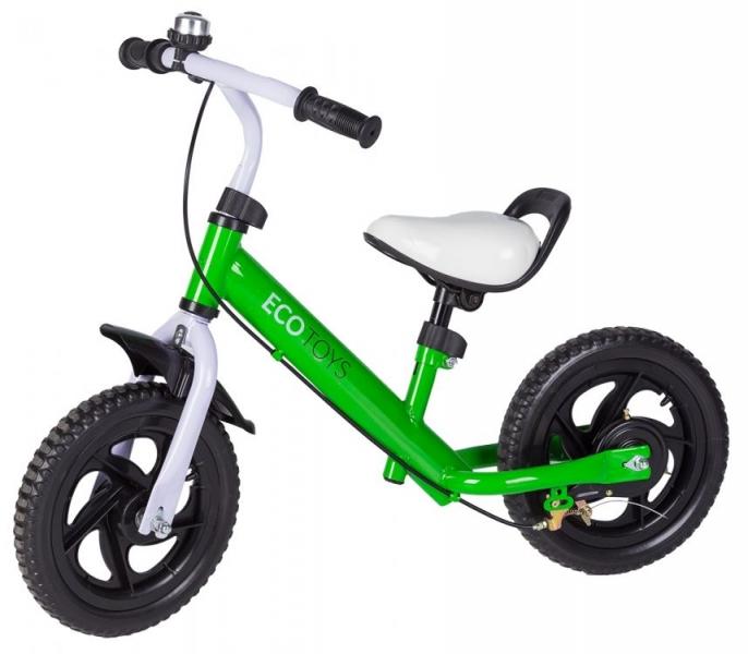 Eco toys Odrážadlo s brzdou, bicykel - zelené