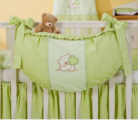 Luxusný vreckár na hračky - Medvedík so srdiečkom zelený Kr.