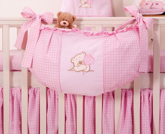 Luxusný vreckár na hračky - Macko so srdiečkom ružový Kr.