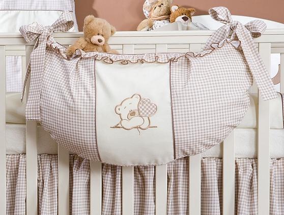 Luxusný vreckár na hračky - Medvedík so srdiečkom hnedý Kr.
