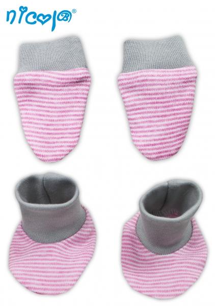 Dojčenská sada - rukavičky s topánočkami Myšička