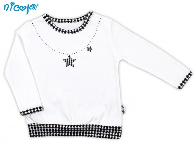 Nicol Bavlnené tričko Lena - dlhý rukáv, roz. 74-74 (6-9m)