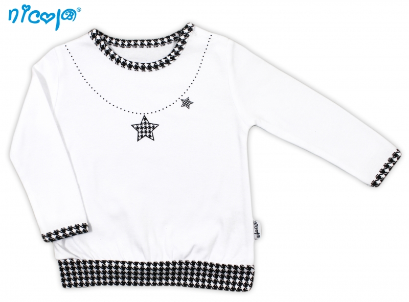 Nicol Bavlnené tričko Lena - dlhý rukáv, roz. 80