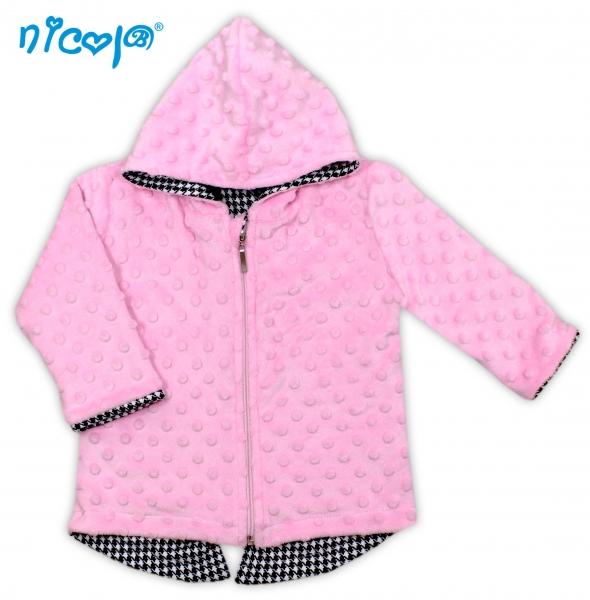 Kabátik/mikinka Minky Lena s kapucňu, roz. 80-80 (9-12m)