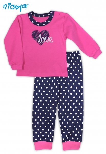 Bavlnené pyžamko Love-80 (9-12m)