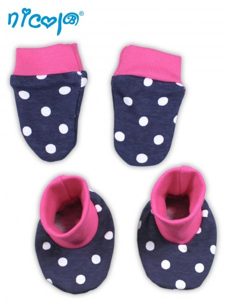 Dojčenská sada - rukavičky s topánočkami Love