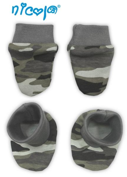 Dojčenská sada - rukavičky s topánočkami Koloušek