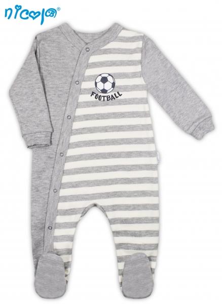 Dojčenský bavlnený overal Football, roz. 68-68 (4-6m)
