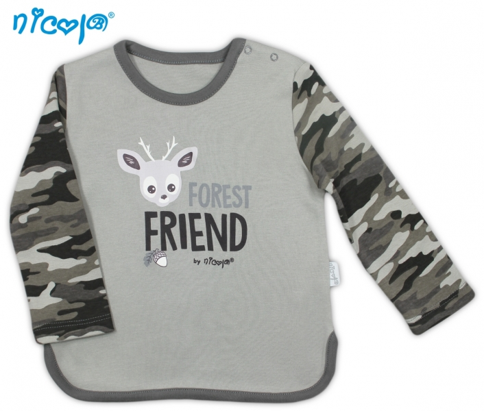 Bavlnené tričko Koloušek - dlhý rukáv, vel´. 80-80 (9-12m)