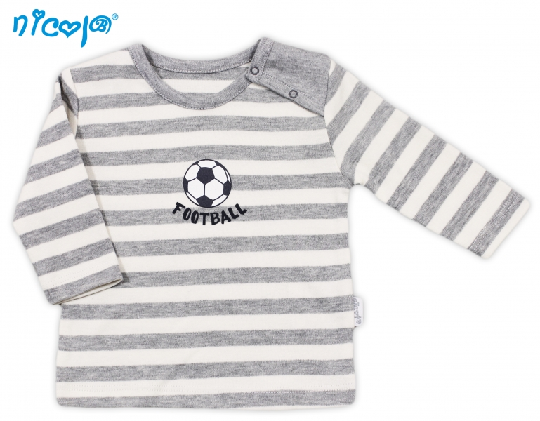 Bavlnené tričko Football - dlhý rukáv, roz. 80