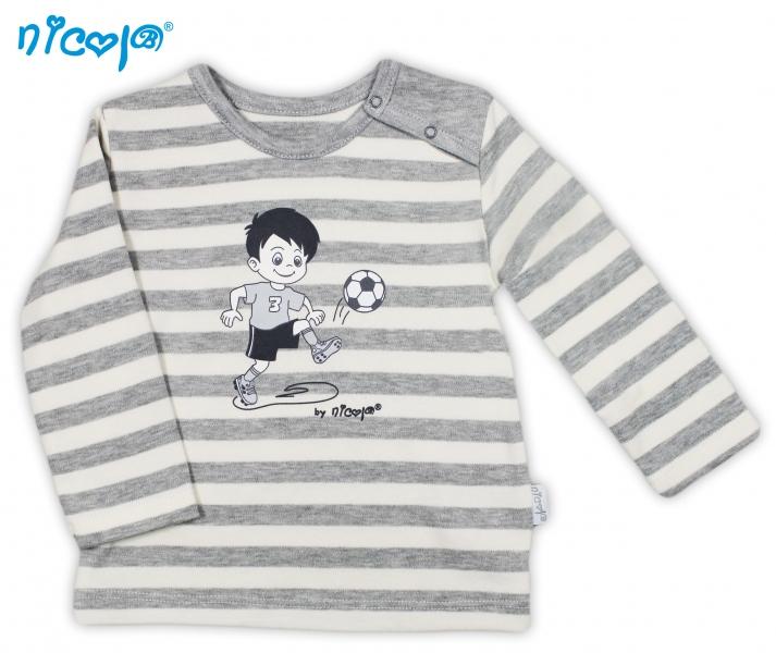 Bavlnené tričko Football - dlhý rukáv, roz. 98-98 (24-36m)