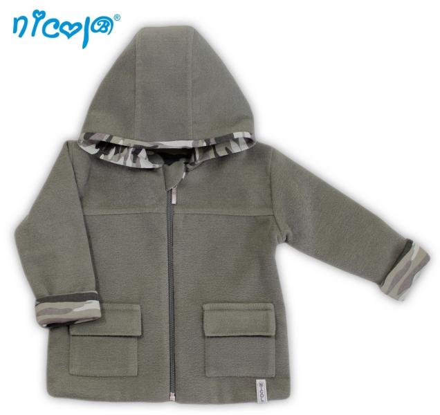 Fleexový kabátik Koloušek - khaki, vel´. 74-74 (6-9m)