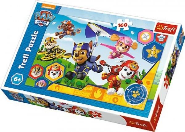 Teddies Puzzle Paw Patrol 41x27,5cm 160 dílků v krabici 29x19x4cm