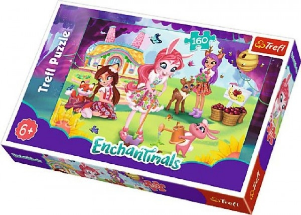 Teddies Puzzle Enchantimals  41x27,5cm 160 dílků v krabici 29x19x4cm