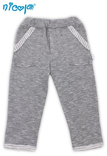 Tepláčky/kalhoty Football - šedé, vel. 86