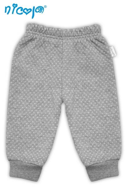 Nicol Tepláčky/kalhoty Football - sivé zo stahovkou, vel´. 62