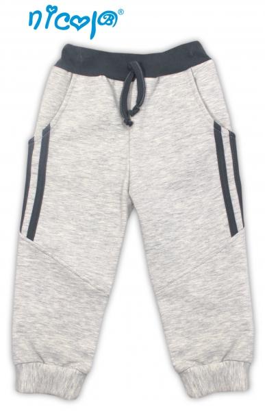 Nicol Tepláčky, nohavice Planeta - sivé, roz. 92-92 (18-24m)