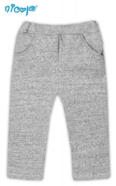 Tepláčky, nohavice Psík - sivé s vreckami, vel´. 86-86 (12-18m)