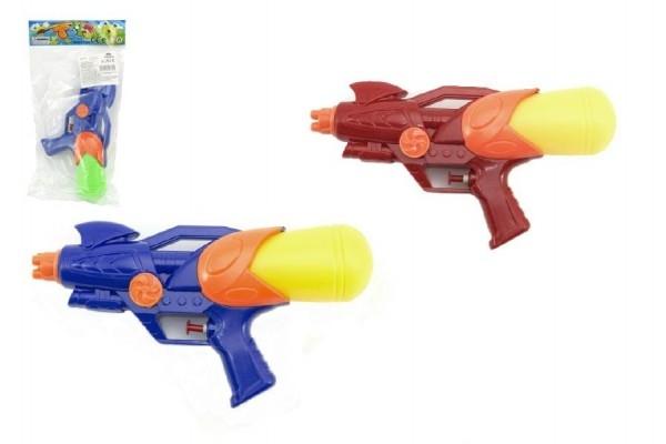 Teddies Vodné pištole plast 25cm asst 2 farby v sáčku