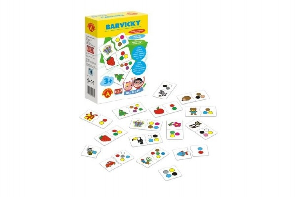 Teddies Hra školou® Farbičky kreatívna hra v krabici 16x25x5cm