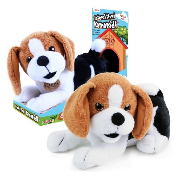 Rappa Plyšový kamarát pes Bobík interaktívne