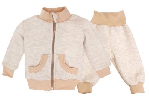 Bavlnená tepláková súprava - béžová, roz. 74-74 (6-9m)