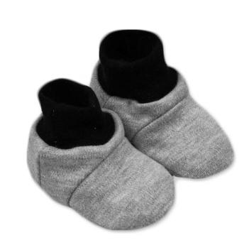 Topánočky /ponožtičk, Little prince/princess Bavlna - Sivé-0/6 měsíců