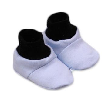 Baby Nellys Topánočky /ponožtičky Little prince Bavlna - Modro/čierne-0/6 měsíců