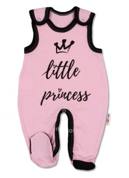 Baby Nellys Dojčenské bavlnené dupačky, ružové, veľ. 62 - Little Princess