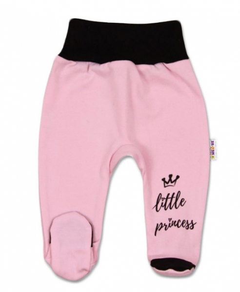 Baby Nellys Dojčenské polodupačky, ružové, veľ. 62 - Little Princess