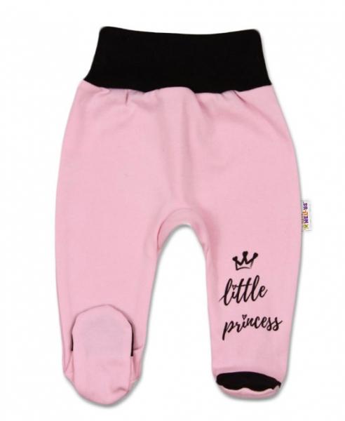 Baby Nellys Dojčenské polodupačky, ružové, veľ. 68 - Little Princess