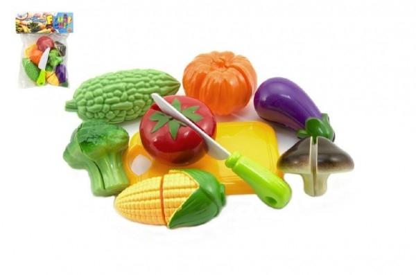 Teddies Krájecí ovocie a zelenina s nádobím plast 9ks v sáčku 19x25cm